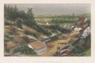 "Owen: Hot Springs, Arkansas. 1876. A hand coloured original antique steel engraving. 9"" x 6"". [USAp4190]"