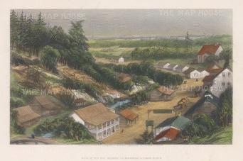 "Owen: Hot Springs, Arkansas. 1876. A hand coloured original antique steel engraving. 9"" x 6"". [USAp4190]"