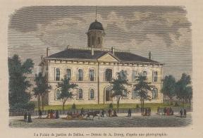 "Garnier: Dallas, Texas. 1876. A hand coloured original antique wood engraving. 5"" x 4"". [USAp4196]"