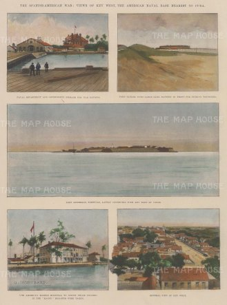 The Spanish-American War: Views of Key West, the American Naval Base.