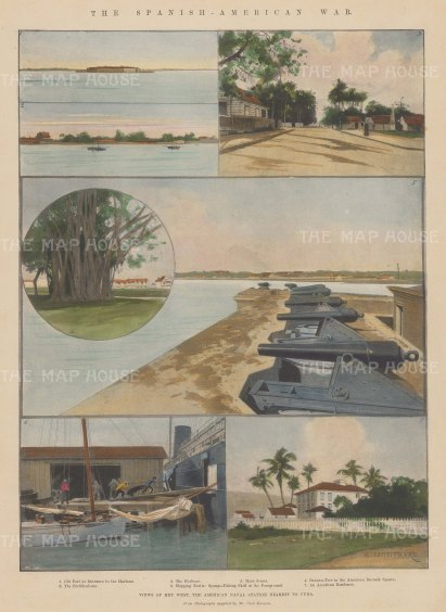 The Spanish-American War: Fortifications and harbour: Seven views.