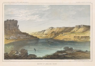 Mouth of the Paluse as it enters the Snake River.