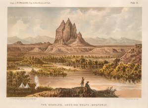 "Macomb: Moab and the Needles, Utah. c1876. An original antique chromolithograph. 10"" x 7"". [USAp4652]"