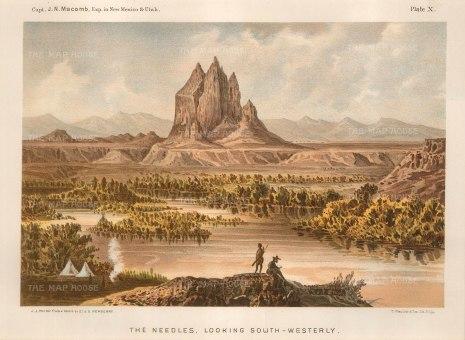 "Macomb: Moab and the Needles, Utah. c1876. An original antique chromolithograph. 10"" x 7"". [USAp4652]"