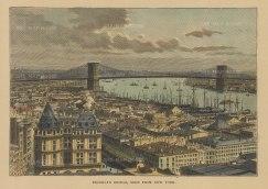 "Reclus: New York City. 1894. A hand coloured original antique wood engraving. 7"" x 5"". [USAp4829w]"