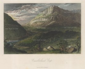 "Picturesque America: Appalachian Mountains, Virginia. 1872. A hand coloured original antique steel engraving. 10"" x 7"". [USAp4837]"