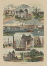 "Picturesque America: St Louis, Missouri.1872. A hand coloured original antique wood engraving. 7"" x 10"". [USAp4839]"