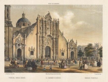 El Sagrario de Mexico. The Sagrario tabernacle adjacent to the Mexico City Metropolitan Cathedral.
