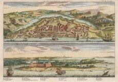 """Harris: St Salvador. c1730. A hand coloured original antique copper engraving. 13"""" x 9"""". [SAMp1315]"""