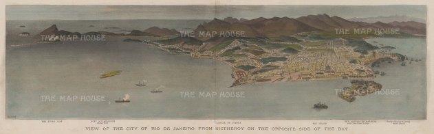 Rio de Janeiro: Panorama from Nictheroy during the War of Canudos.