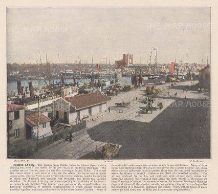 """Miesenbach: Buenos Ayres, Argentina. c1930. A hand coloured original antique photolithograph. 12"""" x 8"""". [SAMp1421]"""