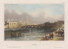 """Meyer: Lima, Peru. 1841. A hand coloured original antique steel engraving. 6"""" x 5"""". [SAMp1436]"""