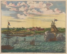 Fort Nassau: View of the Dutch Fort in Pernambuco from the Xingu river. With key.