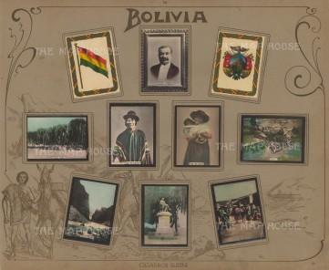 "rros Suisini: Bolivia. 1914. An original antique mixed method engraving. 13"" x 11"". [SAMp993]"