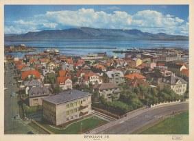 "Europa et Schola Editio: Reykjavik. c1960. An original vintage colour print. 36"" x 24"". [SCANp362]"
