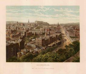 "Collins: Edinburgh. 1890. An original antique chromolithograph. 10"" x 8"". [SCOTp1689]"