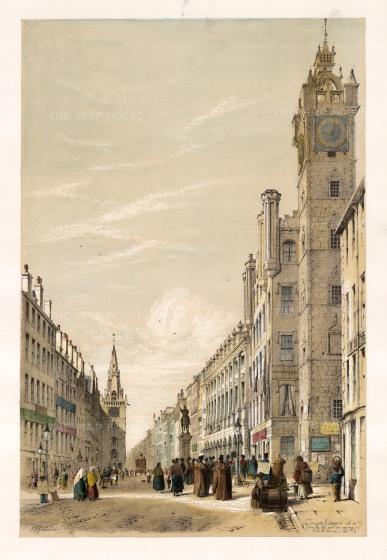 "Swarbreck: Irongate, Glasgow. 1837. A hand coloured original antique lithograph. 16"" x 12"". [SCOTp829]"