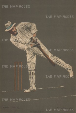 "Spottiswoode: Lord Harris. 1905. An original antique chromolithograph. 10"" x 15"". [SPORTSp3333]"