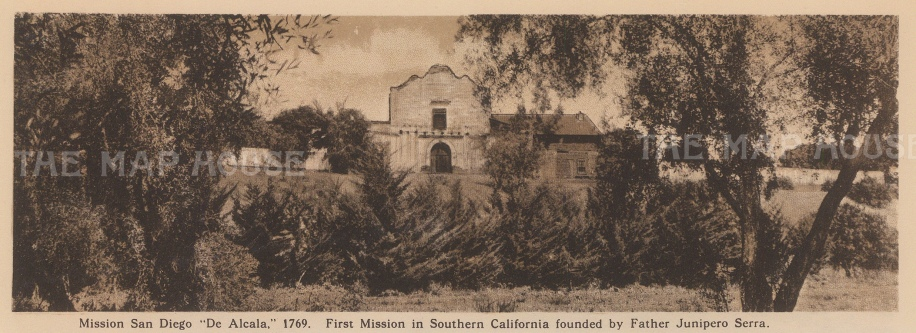 San Diego: View of San Diego de Alcala Mission, California's first mission.
