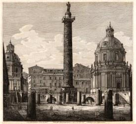 Trajan's Column: View from the ruins of Trajan's forum.