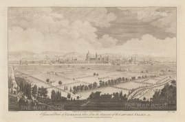 Panorama of Florence and its environs: View from the Convento Padri Cappuccini Montughi. After Giuseppe Zocchi.