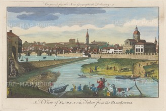 Florence: Panoramic view from Vaga Loggia on the Arono: After Giuseppe Zocchi