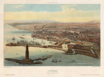 Livorno: Balloon view from the Fanal dei Pisani, overlooking the Pentagona de Buotalenti.