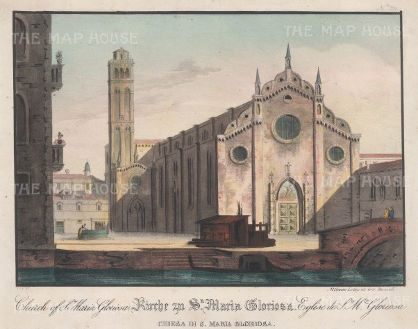 Santa Maria Gloriosa dei Frari: East Front with the Campanile.