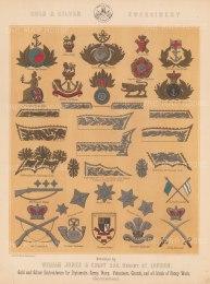 "Jones & Co: Embroidery and Cap Bades.. c1886. An original antique chromolithograph. 13"" x 18"". [MILp14]"
