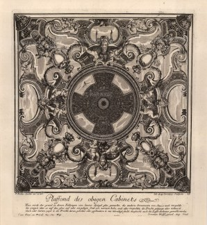 Baroque Ceiling Decoration: With text relating to materials to be used.