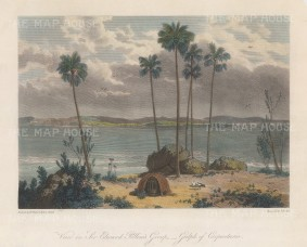 Sir Edward Pellew's Group, Gulf of Carpentari: View from Observation Island of the mouth of the McArthur river. After William Westall, artist on HMS Investigator.