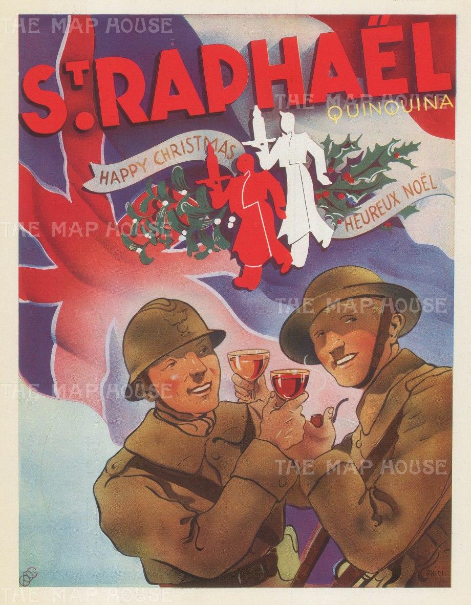 """L'Illustration: St Raphael Quinquina. 1939. An original vintage poster. 9"""" x 12"""". [DECp2089]"""