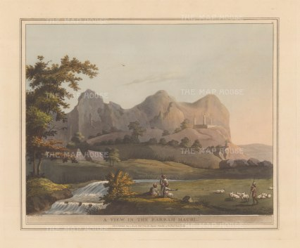 Baramahal: View in the pass near Krishnagiri during the Third Anglo-Mysore War of 1792.