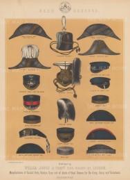 "Jones & Co: Head Dress. c1886. An original antique chromolithograph. 13"" x 18"". [MILp137]"
