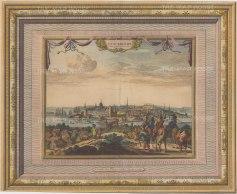 "Van der Aa: Stockholm, Sweden. c1730. A hand coloured original antique copper engraving. 17"" x 13"". [SCANp324]"
