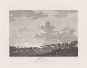 "Thersner: Fredburga, Denmark.1820. An original antique aquatint. 13"" x 9"". [SCANp62]"