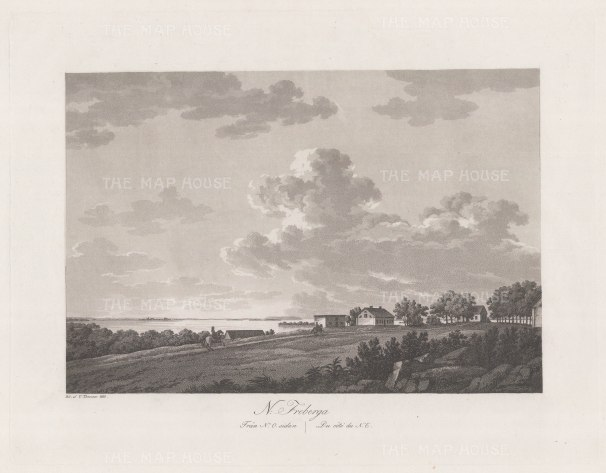 "Thersner: Fredburga, Denmark.1820. An original antique aquatint. 13"" x 9"". [SCANp62]"