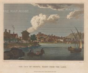 "Fisher: Geneva. 1820. A hand coloured original antique copper engraving. 9"" x 7"". [SWIp720]"
