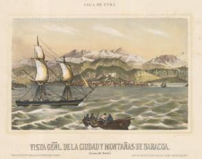 "Mialhe: Baracoa, Cuba. 1853. A hand coloured original antique lithograph. 10"" x 8"". [WINDp1045]"