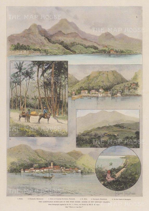 Leeward Islands: Views of St.Kitts, Nevis and Monserrat.