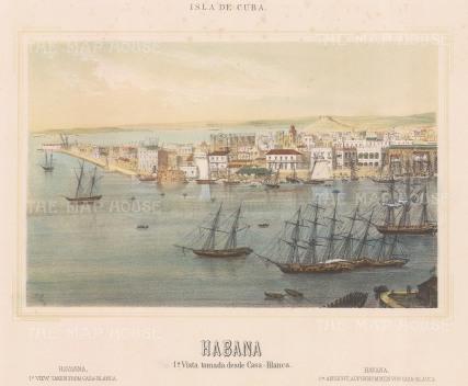 Cuba: Havana. Panoramic view (1st) from the Casa Blanca.
