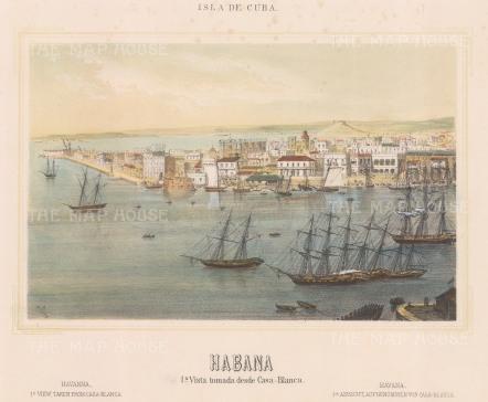 Havana: Panoramic view (1st) from the Casa Blanca.
