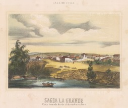 View of the town from the Sagua La Grande river.