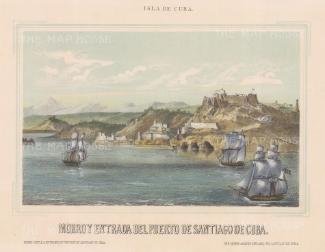 Santiago de Cuba: View of the entrance to the port.
