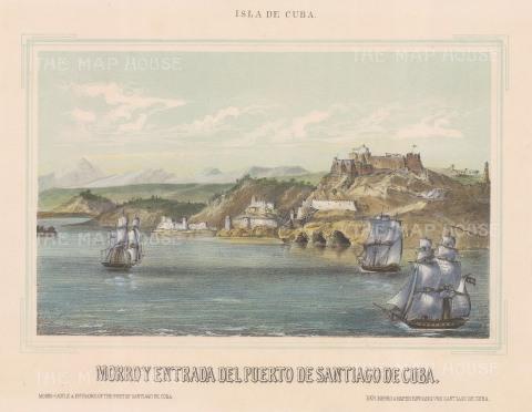 "Mialhe: Santiago de Cuba. 1853. A hand coloured original antique lithograph. 10"" x 8"". [WINDp700]"