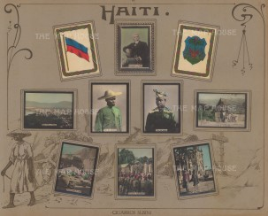 Haiti: Mounted set of hand coloured photographic cigarette cards issued by Cigarros Susini.
