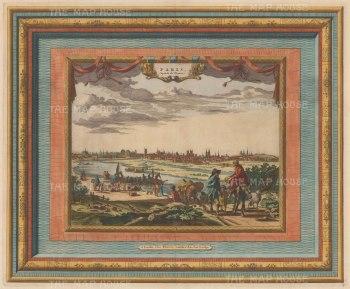 "Van der Aa: Paris. 1730. A hand coloured original antique copper engraving. 17"" x 14"". [FRp1142]"