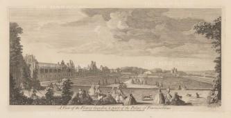 "Sayer: Fountainbleau. 1774. An original antique copper engraving. 18"" x 10"". [FRp1577]"