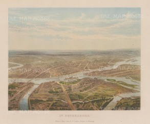 "Collins: St. Petersburg. 1877. An original antique chromolithograph. 11"" x 9"". [RUSp682]"
