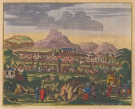 Azerbaijan: Schamachie (Shrivan): Panorama of the city ceded by Persia to Imperial Russia in 1828.